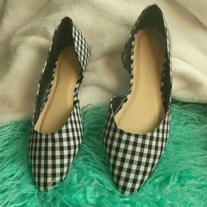 Wild Diva Lounge checkered flat shoes